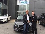 Félicitations M. Lavoie pour votre nouvelle Mazda 3 GT 2017, Chambly Mazda