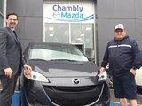 Félicitations M. Nadeau pour votre nouvelle Mazda5 2017, Chambly Mazda