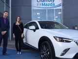 Félicitations Mme Verville pour votre nouvelle Mazda CX3 GT 2017, Chambly Mazda