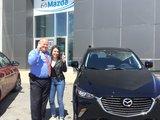 Félicitations Mme Brault pour votre nouvelle Mazda CX3 2017, Chambly Mazda