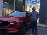 Félicitations M. Lakiss Da Costa pour votre nouvelle Mazda CX5 2017, Chambly Mazda
