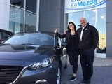 Félicitations à Loriane Gobeil-Lamarre pour sa nouvelle Mazda 3 GT, Chambly Mazda