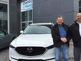 Félicitations à M. Jeannotte pour l'achat de son véhicule Mazda CX5 2017, Chambly Mazda