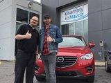 Félicitations M. Benoît St-Cyr pour l'achat de votre nouvelle Mazda CX5, Chambly Mazda