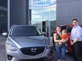Félicitations à Mme Anabelle Dumas-Chevalier pour sa nouvelle Mazda CX5 , Chambly Mazda