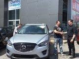 Félicitations M. Richard pour l'achat de votre nouvelle Mazda CX5GT, Chambly Mazda