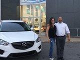 Félicitations Mme Janie Bélanger pour l'achat de votre nouvelle Mazda CX5 , Chambly Mazda
