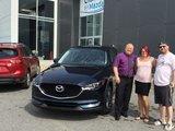 Félicitations Mme Bujold pour l'achat de votre nouvelle Mazda CX5 2017, Chambly Mazda