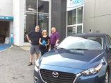Félicitations Madame Demers pour votre nouvelle Mazda 3. 2017, Chambly Mazda