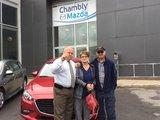 Félicitations Mme Verreault Derome pour l'achat de votre nouvelle Mazda 3 2017, Chambly Mazda