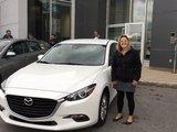 Félicitations Madame Levasseur pour votre achat du Mazda3 2017, Chambly Mazda