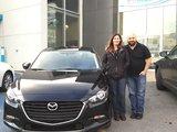 Félicitations Mme Colette Maurice pour votre nouvelle Mazda 3 2017, Chambly Mazda