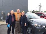 Félicitations Mme Monique Gosselin pour l'achat de votre nouvelle CX3 2017, Chambly Mazda