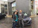 Félicitations Madame Mona Salimi pour votre nouvelle Mazda 3, Chambly Mazda