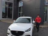 Félicitations à Mme Danielle Masse pour l'achat de son nouveau Mazda 3 2017, Chambly Mazda