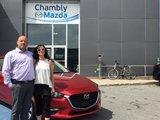 Félicitations Mme Marie Ève Gagnon pour votre nouvelle Mazda 32017, Chambly Mazda