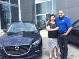 Félicitations Madame Fleury pour l'achat de votre nouvelle Mazda 2017, Chambly Mazda