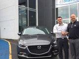 Félicitations M. Chaput pour l'achat de votre nouvelle Mazda 32017, Chambly Mazda