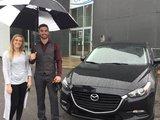 Félicitations Madame Maude Bélanger pour l'achat de votre nouvelle Mazda 3 /2017, Chambly Mazda