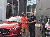 Félicitations à Monsieur Dominic Toupin pour votre nouvelle Mazda 3 sport 2017, Chambly Mazda
