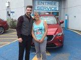 Félicitations Madame Palin pour l'achat de votre nouveau véhicule Mazda CX3 2017, Chambly Mazda
