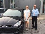 Félicitations à Mlle Alexia Larocque pour sa nouvelle voiture et merci de votre confiance en Chambly Mazda, Chambly Mazda