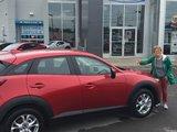 Félicitations à Mme Emee Landry pour votre nouvelle Mazda CX3 2017, Chambly Mazda