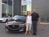 Félicitations Madame Desjardins pour votre nouvelle Mazda 3 2017, Chambly Mazda