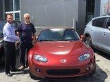 Félicitations Monsieur Tétrault pour votre nouvelle Mazda MX5 , Chambly Mazda