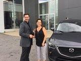 Félicitations Mme Nathalie Audet pour l'acquisition de votre nouvelle Mazda CX3 2017, Chambly Mazda