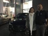 Félicitations Mme Charest pour votre nouvelle Mazda 32017, Chambly Mazda