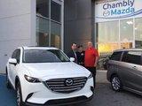 Félicitations Monsieur Boudreau pour votre nouvelle Mazda CX9 2017, Chambly Mazda