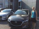 Félicitations Madame Casgrain pour l'achat de votre nouvelle Mazda 3 , Chambly Mazda