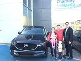 Félicitations à M. Lefebvre et Mme Lefrançois Harris pour l'achat de votre nouvelle Mazda CX5 2017, Chambly Mazda