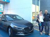 Félicitations Madame Brunelle pour votre nouvelle Mazda 3 2017, Chambly Mazda