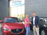 Félicitations Madame Tremblay pour votre nouvelle Mazda 3 2017, Chambly Mazda
