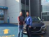 Félicitations Monsieur Castonguay pour votre nouvelle Mazda 3 2017, Chambly Mazda