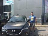 Félicitations Monsieur Morin pour votre nouvelle CX3 2017, Chambly Mazda