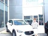 Félicitations Mme Hovington pour votre nouvelle Mazda CX3 2017, Chambly Mazda