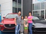 Félicitations Madame Rosa pour votre nouvelle Mazda MX5 2017 et votre CX3 2017, Chambly Mazda