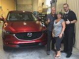 Félicitations M. Côté pour votre nouvelle CX5 GT 2017, Chambly Mazda