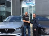 Félicitations Monsieur Villeneuve pour votre nouvelle Mazda CX5 2017, Chambly Mazda