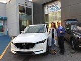 Félicitations Mme Cardoso pour votre nouvelle Mazda CX5 GT.  Merci de votre confiance, Chambly Mazda