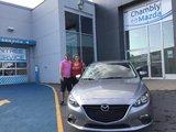 Félicitations Emy Lefebvre Rodrigue pour votre Mazda 3 sport.  Merci de faire confiance à Chambly Mazda, Chambly Mazda