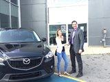 Félicitations Madame Tremblay pour l'achat de votre CX5, Chambly Mazda