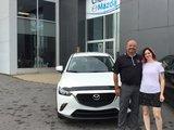 Félicitations Mme Poirier pour votre nouvelle Mazda CX3 2017.  Merci de votre confiance, Chambly Mazda