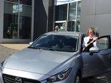 Félicitations Madame Jodoin pour votre nouvelle Mazda 3 2017, Chambly Mazda