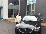 Félicitations Mme Vinetti pour votre nouvelle CX3 2018, Chambly Mazda