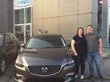 Félicitations Madame Rollin pour votre nouvellle Mazda 6 2017, Chambly Mazda