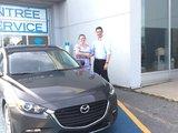 Félicitations Madame Lalonde pour votre nouvelle Mazda 3 2017 , Chambly Mazda